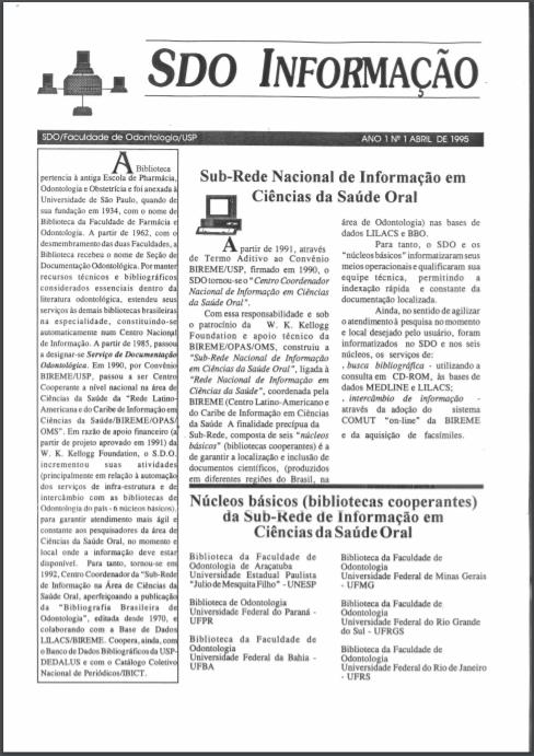 Conformación de la «Sub-Red Nacional de Información en el Área de Ciencias de la Salud Oral»