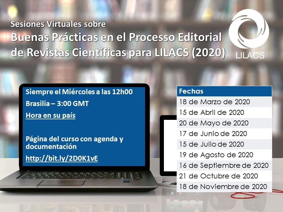 Buenas Prácticas en el Processo Editorial de Revistas Científicas para LILACS (2020)