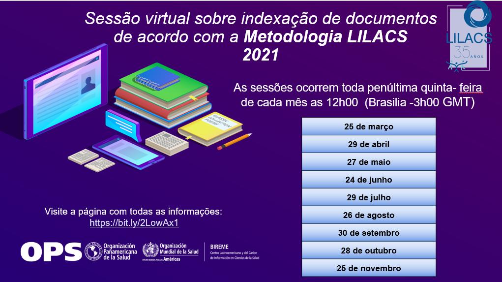 Capacitación sobre indización de documentos según la Metodología LILACS (2021)