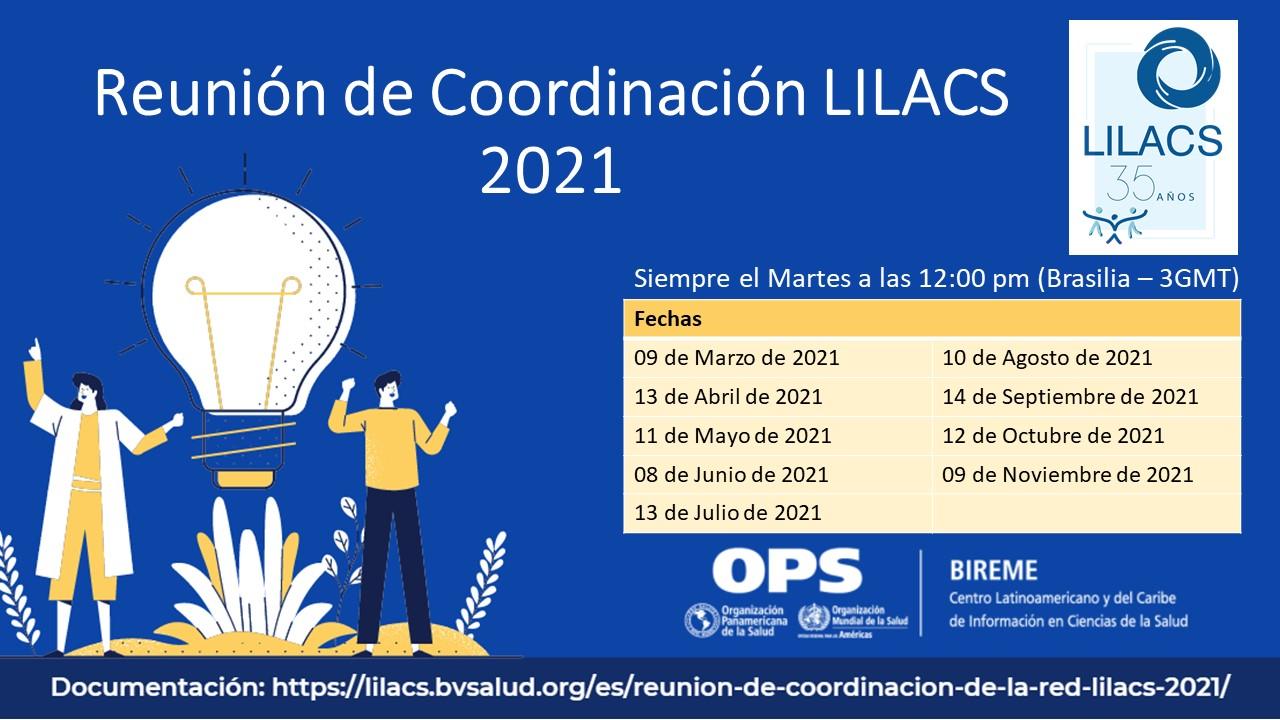 Calendario de Reuniones de Coordinación LILACS 2021