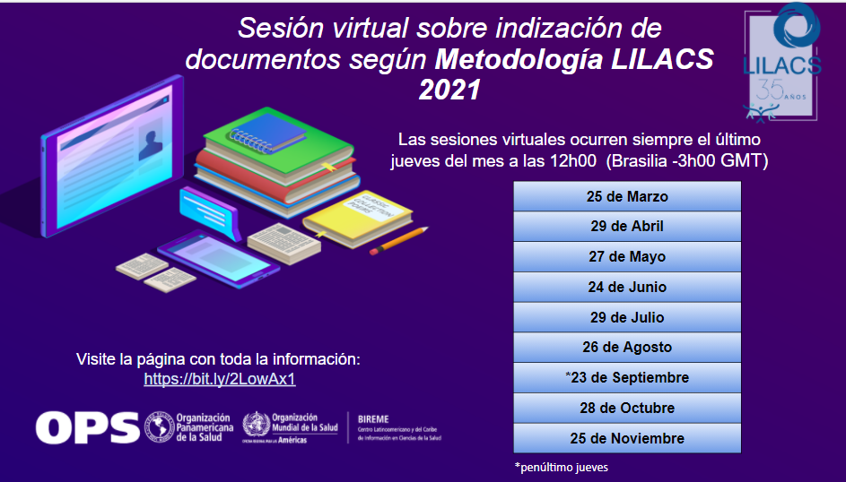Sesión virtual sobre indización LILACS 2021