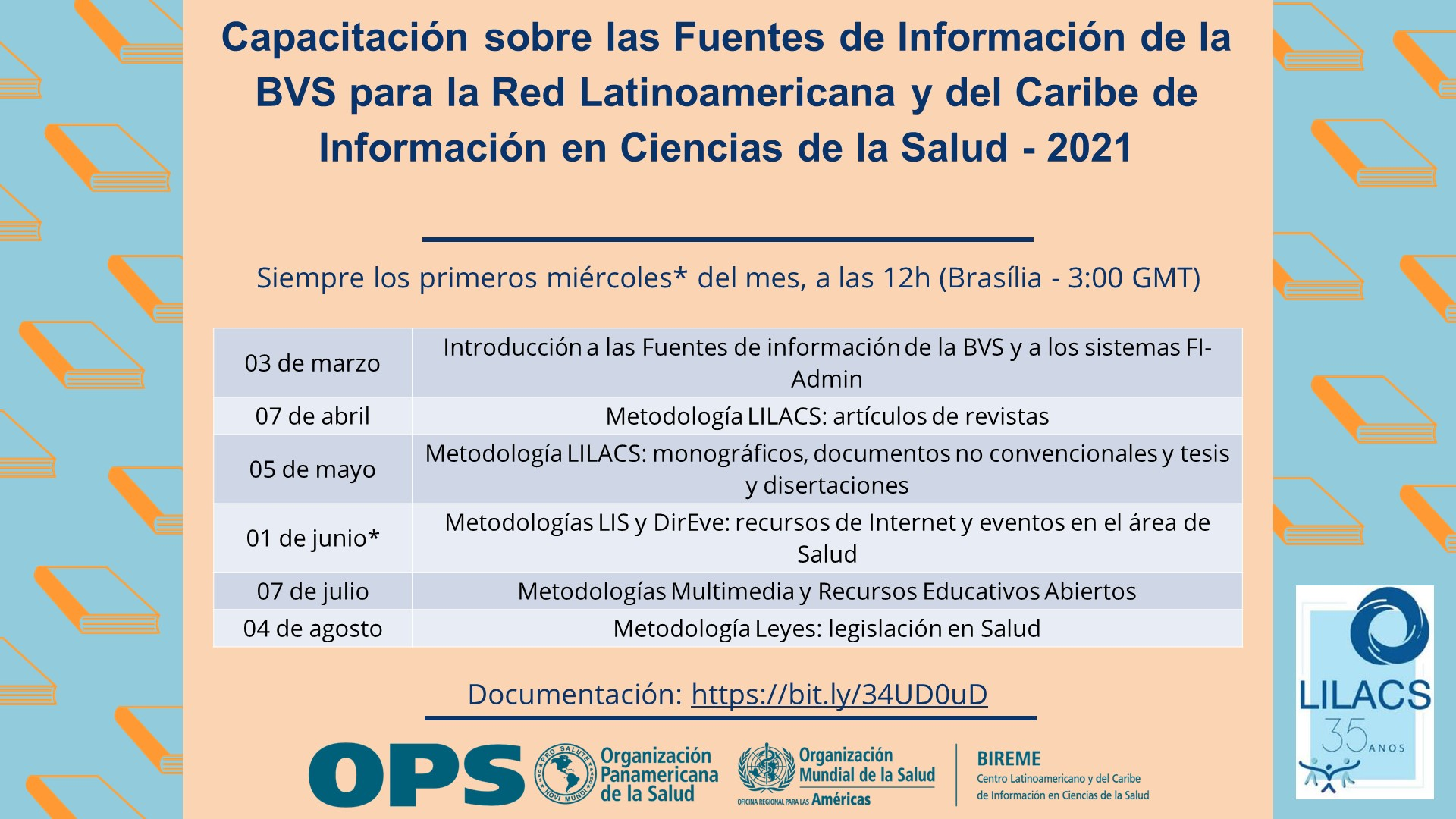 Capacitación sobre las Metodologías de las Fuentes de Información de la BVS y FI-Admin 2021