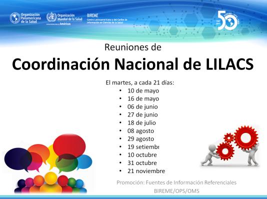 Reuniones de Coordinación Nacional de LILACS 2017