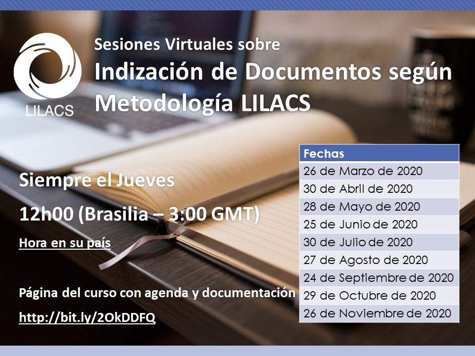 Sesión virtual sobre Indización de documentos según Metodología LILACS (2020)