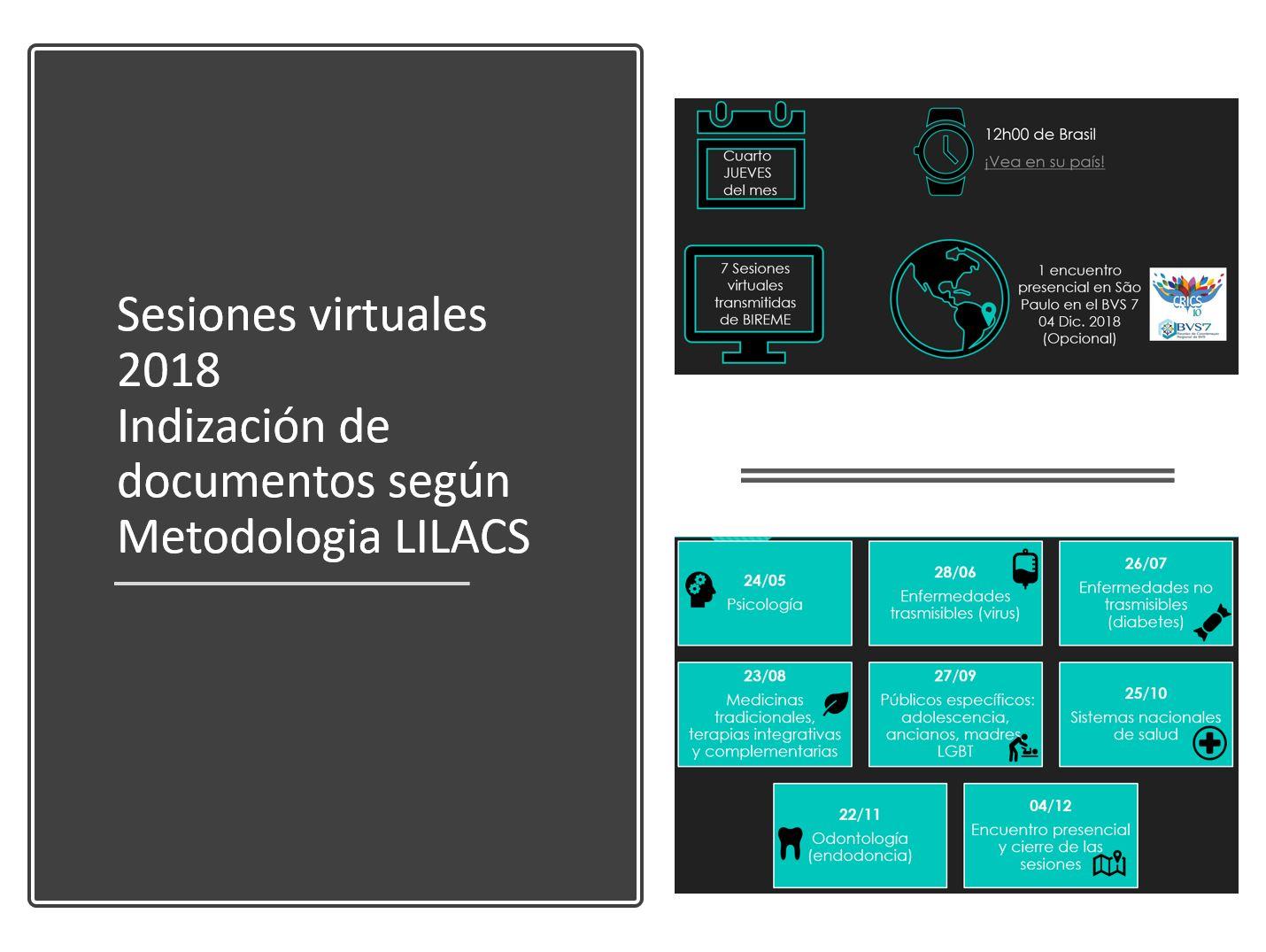 Capacitación sobre indización de documentos LILACS 2018